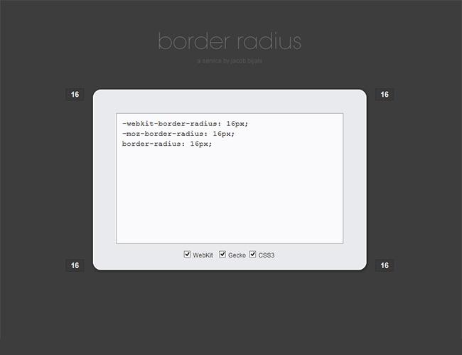 Propiedad border-radius CSS3