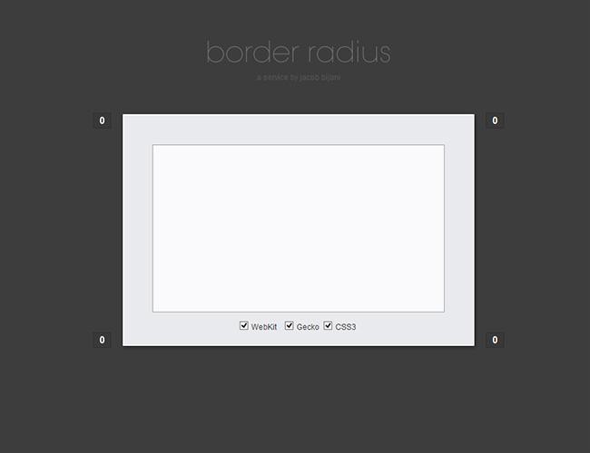 Utilidad Recomendada para Crear de Manera Visual la propiedad (border-radius) CSS3