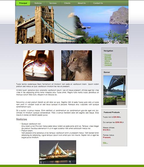 Plantilla Gratis para wordpress - Estilo Viajes