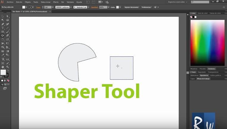 Nueva Herramienta Shaper en Adobe Illustrator CC 2015