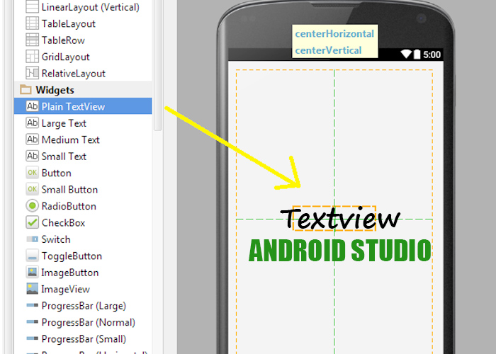 Textview en Android Studio