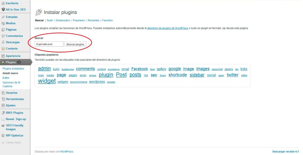 Duplicar o Clonar Entradas en WordPress