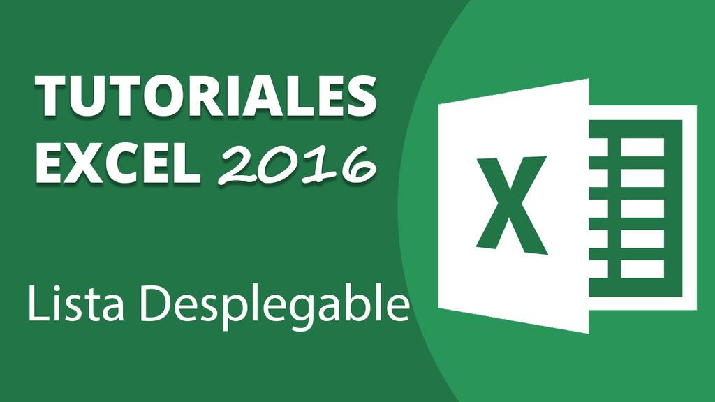 Lista Desplegable en Excel 2016