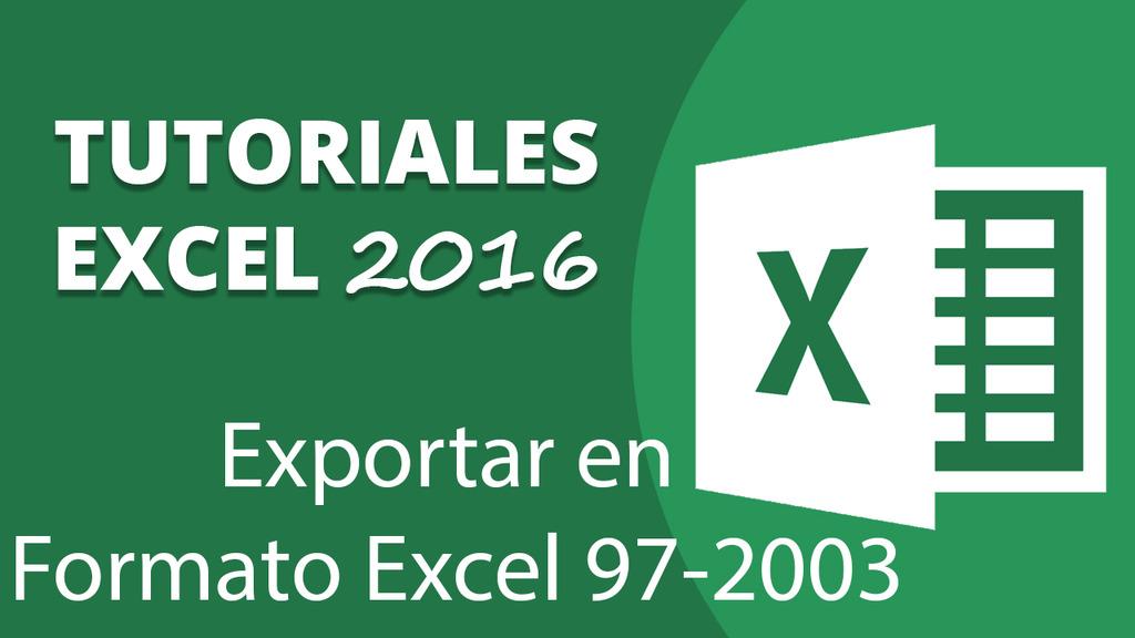 Exportar en Formato Excel 97-2003