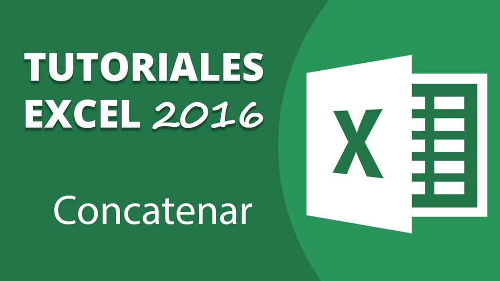 Concatenar en Excel 2016