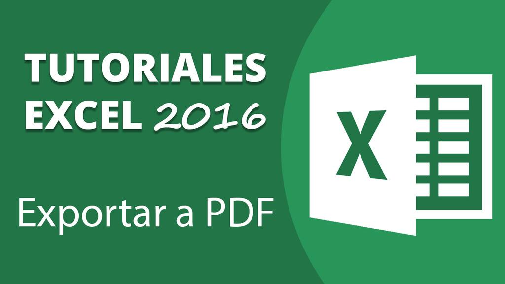 Exportar a PDF desde Excel 2016