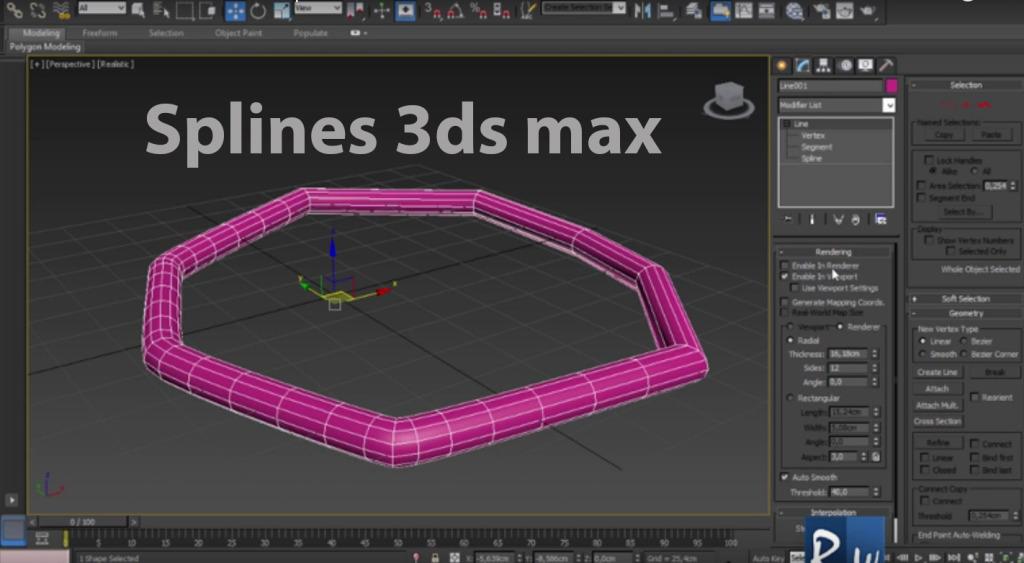 Introducción al Modelado con Splines en 3ds Max