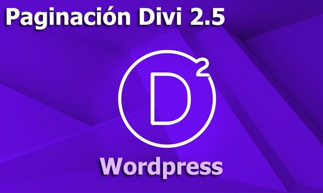 Paginación numérica de entradas en Divi 2.5 WordPress