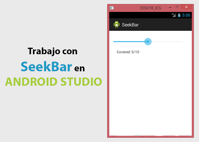 Seekbar en Android Studio