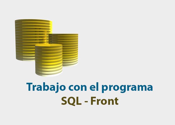 Trabajo con SQL Front