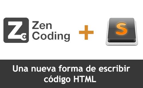 Intalación y Uso de Zen Coding en Sublime Text 2