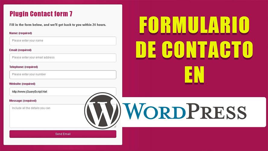 Crear y configurar fácilmente un formulario de contacto en WORDPRESS