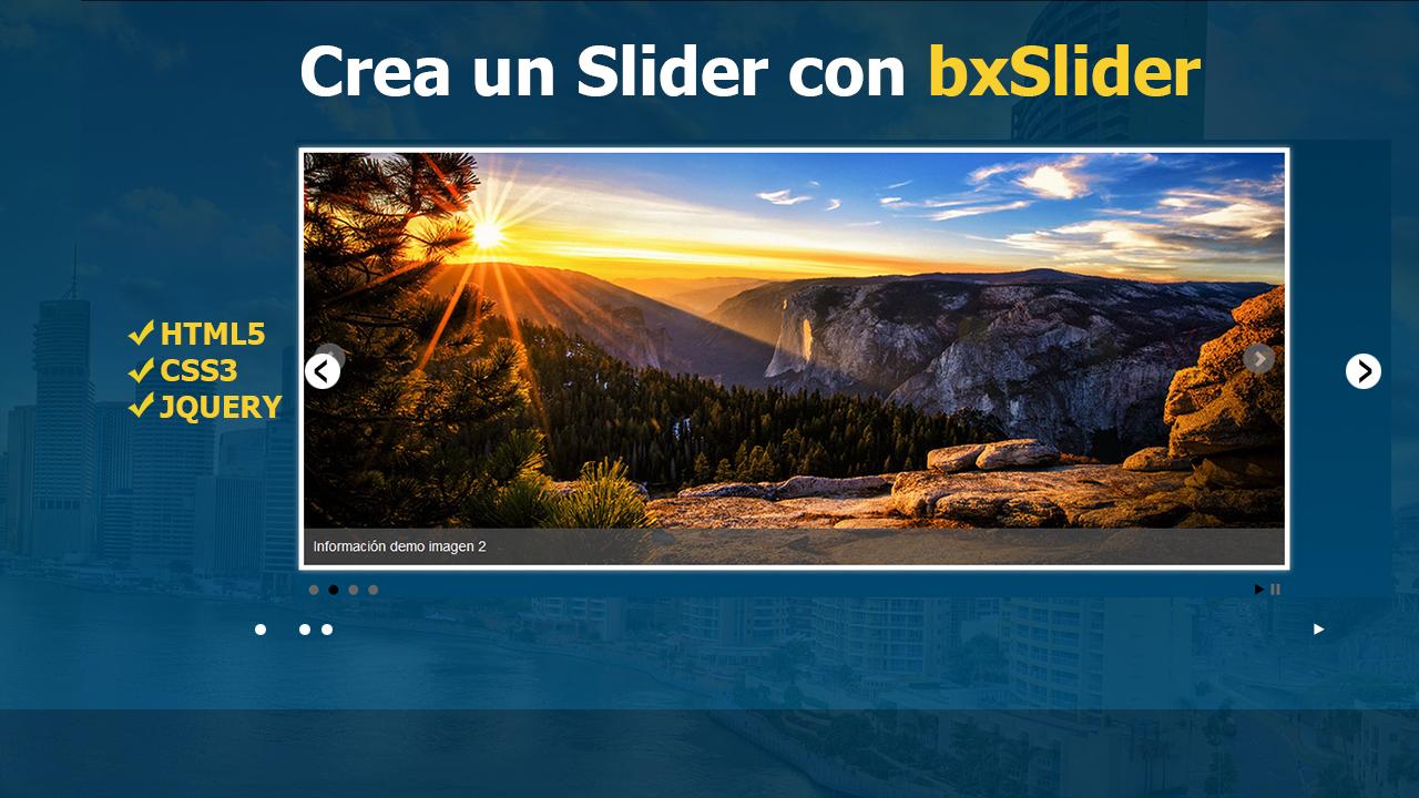 Como Crear un Slider Fácilmente con el plugin bxSlider