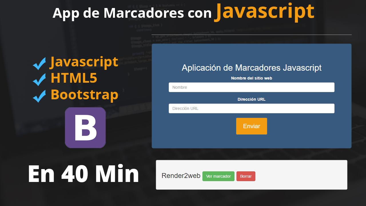 Aplicación de Marcadores con Javascript, Bootstrap y Localstorage